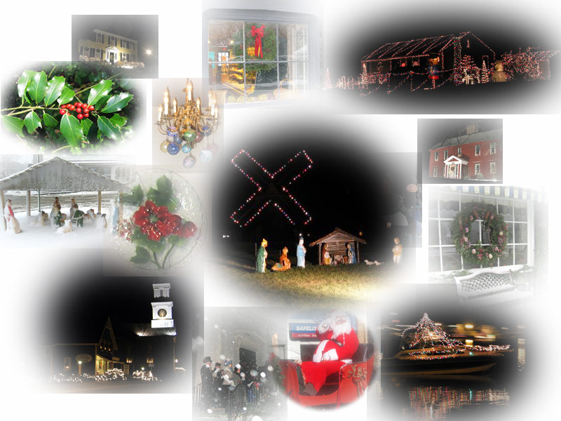 montage of Christmas photos