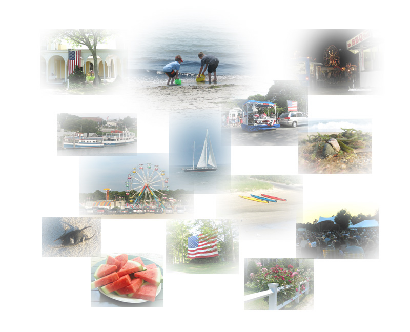 montage of summer photos on Cape Cod