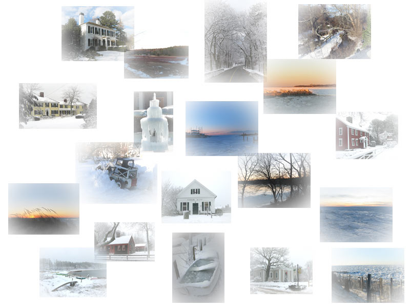 montage of winter photos taken on Cape Cod